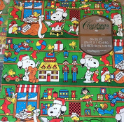 Hallmark Vintage Peanuts Santa Snoopy Pkg CHRISTMAS Gift Wrap Wrapping Paper