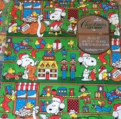 Hallmark Vintage Peanuts Santa Snoopy Pkg CHRISTMAS Gift Wrap Wrapping Paper