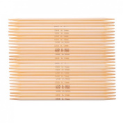 Souarts 5pcs Natural Bamboo Double Pointed Needles UK6 5mm 15cm
