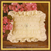 Monogram Pillow Kit, Vintage 1984 Sunset Stitchery, Designed by Nancy Rossi, Hand Sewing with Counted Cross Stitch Insert