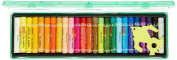 Camlin Kokuyo Oil Pastel Crayons Colour 25 Shades Assorted Colours Plastic Box