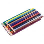 Faber Castell 24 Tri-colour Pencil Set Best Grip Includes Silver & Gold