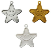 Plastic Balloon Weights - 8 Gramme Gold, Silver & White Stars Weights Assorted x 10