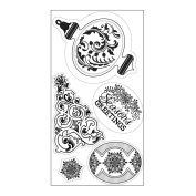 Sizzix Sizzix Interchangeable Clear Stamps By Jen Long Christmas Greetings, Ornament & Tree