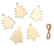 10 x Laser Cut Wooden Christmas Tree, Wedding Decoration Embellishment