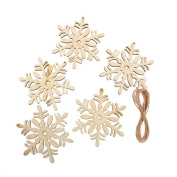 10 x Laser Cut Wooden Christmas SNOWFLAKE, Wedding Decoration Embellishment