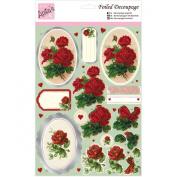 Anita's A4 Foiled Decoupage Sheet-Roses
