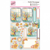 Anita's A4 Foiled Decoupage Sheet-Autumn Flowers
