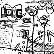 Gourmet Rubber Stamps Cling Stamps 11cm x 16cm Love Collage W/Postcard