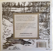 Winter Scene Cover-a-Card Unmounted Cling Rubber Stamp