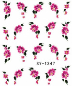 3 Sheets Red Rose Daisy Flower Nail Art Stickers Water Transfer Decals Wraps
