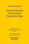 Das Internationale Privatrecht Der Transportvertrage [GER]