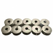 10 Juki Sewing Machine M Size Aluminium Bobbins with Slot #107-23609