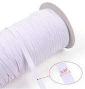 Top Hunter White 70-Yards Length 0.6cm Width Braided Elastic Cord/Elastic Band/Elastic Rope/Bungee/White Heavy Stretch Knit Elastic Spool
