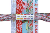 Assorted Seasons Fold Over Elastic Set: Winter Snowflake, Valentine Hearts, Warm Floral, Autumn Fall Leaves & Happy Birthday