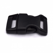 1.6cm Contoured Plastic Side Release Buckles for Paracord Bracelets Multiple Colour and Quantity
