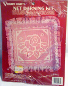 NET DARNING KIT STYLE #2526A ***VICTORIAN ROSE*** FINISHED PILLOW
