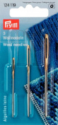 PRYM 124119 Wool and tapestry (smyrna) needles with gold eye No. 1 & 3; 70x2.40 mm & 60x1.90 mm, 2 pieces