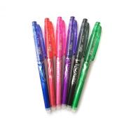 Pilot Frixion 0.5mm X-fine Point Erasable Gel Pens - 6 Colour Pouch Pack