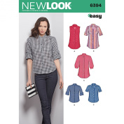 New Look Sewing Pattern UN6394A Autumn Collection Misses' Button Front Tops Sewing Patterns, A