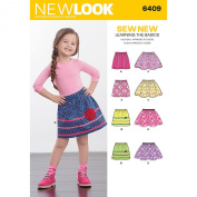 New Look Sewing Pattern UN6409A Autumn Collection Child's Pull-On Skirts Sewing Patterns, A