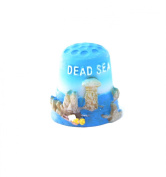 "Thimble Souvenir From Israel & Palestine Sewing Holyland Thimbles Collection ""Dead Sea"""