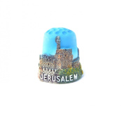 "Thimble Souvenir From Israel & Palestine Sewing Holyland Thimbles Collection ""Jerusalem"" Tower of David"