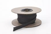Pearl 1.3cm Wide Broadcloth Double Fold Bias, 15 yd, Black