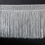 Craft Black and White Fringe Tassel Trimming Braided Polyester Lace Trim Sew on Applique for Clothes Curtain Latin Dress Samba 5yard/ T1322