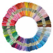 FitSand (TM) 100 Skeins of 8M Multi-colour Soft Cotton Cross Stitch Threads Embroidery Floss Sewing Threads