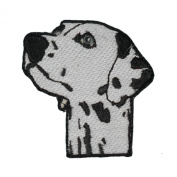 Embroidered Applique Dalmatian Dog's Head Shot