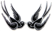 2 Bird Sparrow Swallow Dove Freedom Tatoo Lady Rider Jacket T shirt Patch Sew Iron on Embroidered Badge Sign Costum