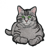 Tabby Cat Embroidered Patch Cute Kitty