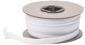 Pearl Flat Draw Cord, 1.3cm Wide, 15 yd, White