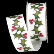 Mini Spool - Satin Holly & Berries Ribbon - 1.8m