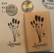 P59 Lavender rubber stamp