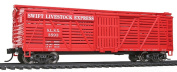 HO Scale 12m Stock Car w/Dreadnaught Ends - Ready to Run -- Swift Livestock Express #3593