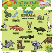 Playtime Felts Freshwater Marsh Animals and Their Names Felt Set for Flannel Board Storytime