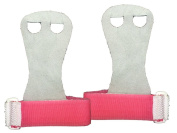 Gymnastics Hand Grips - Youth Sizes, Soft Genuine Leather - Measure the Right Hand From the Base of the Palm (Where Palm Meets the Wrist) to the Base of the Middle Finger (Where Middle Finger and Palm Meet.) - 100% Satisfaction Guaranteed!