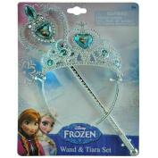 Disney Frozen Princess Anna & Elsa Magic Wand & Tiara Combo Set
