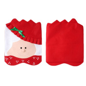 MAPZE Mrs Santa Claus Christmas Kitchen Chair Covers