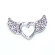 "Jewellery Monster ""Heart w/ Wings Mini Charm "" for Floating Charm Lockets 34832"