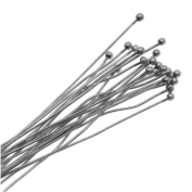 Antiqued Silver 2mm Ball Head Pins - 22 Gauge Thick 2 Inches Long