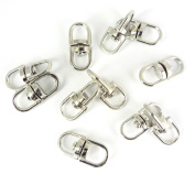 Stainless Steel Swivel Double Loops Key Chain Connectors Link Jewellery Findings DIY Making Supply