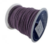 Springfield Leather Company 0.2cm x 15m Soft Suede Violet Leather Lace