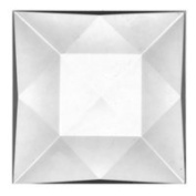 Stained Glass Jewels - 50mm Square Faceted - Crystal
