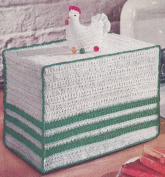Vintage Crochet PATTERN to make - Chicken Motif Toaster Cover. NOT a finished item. This is a pattern and/or instructions to make the item only.