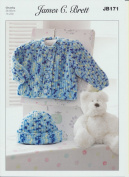 James C Brett Chunky - JB171 Baby Jacket and Hat 36-56 cm (14-22 ins) by James C Brett Patterns