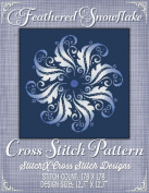 Feathered Snowflake Cross Stitch Pattern - Modern Cross Stitch Design - Mandala Cross Stitch Pattern - Cross Stitch Chart-pack