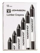 Johnson Level & Tool 3512-K Black Lumber Crayons, 12-Pack